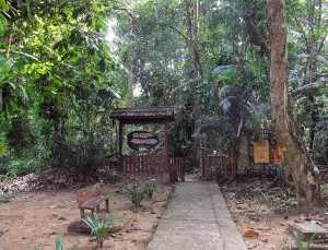 Entrance of the Taman Negara National Park, Malaysia.