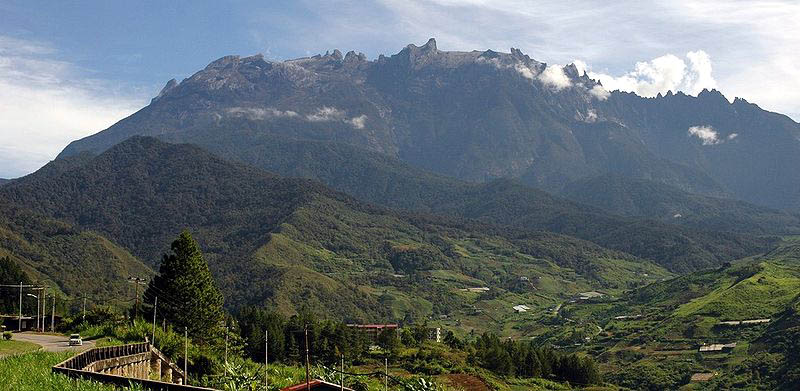 A view of Mt Kinabalu.