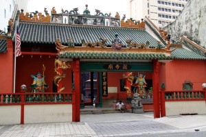 Guandi Temple in Chinatown, Kuala Lumpur.