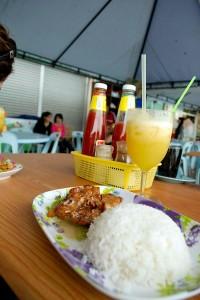 Honeyed-chicken-and-rice-Malaysia