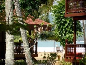 Beachfront villas at the Meritus Pelangi Langkawi.