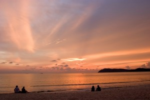 Pantai Cenang (Cenang Beach).