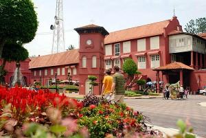 Stadhuys, Melaka's historic seat of government.